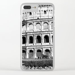 Black and White Colosseum Clear iPhone Case