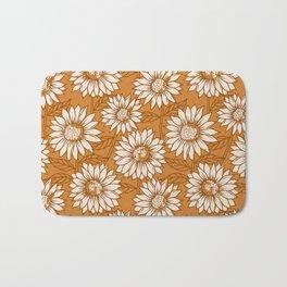 Copper Sunflowers Bath Mat
