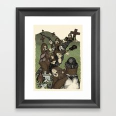 Night of the Living Squatch Framed Art Print