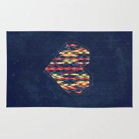 interstellar Area & Throw Rugs featuring Interstellar Heart by VessDSign