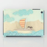 pirate ship iPad Cases featuring pirate ship...  by studiomarshallarts