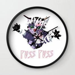Puss puss Wall Clock