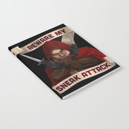 Rogue: Beware My Sneak Attack Notebook