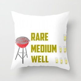 BBQ Timer Barbecue Grill Grilling Beer Drink Gift Throw Pillow