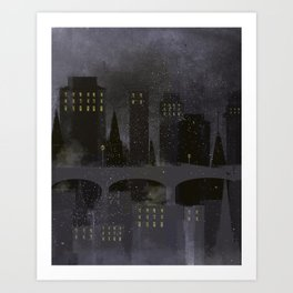 Edinburgh by night Art Print