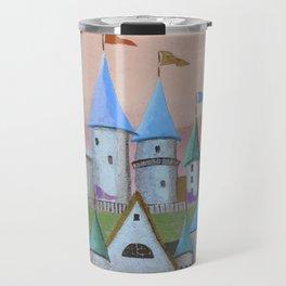 Enchanted Castle after Sunset Travel Mug