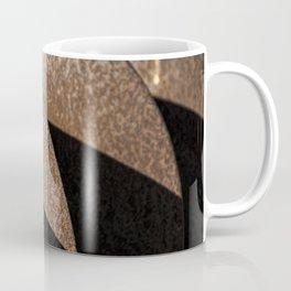 Rusted Disker Plow Light and Shadow Abstract Coffee Mug