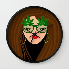 420 Girl Wall Clock