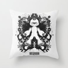 Megaman Geek Ink Blot Test Throw Pillow