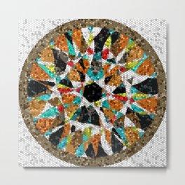 Unorganized Mosaic Metal Print