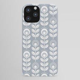 SCANDI GARDEN 01-6, white on silver grey iPhone Case