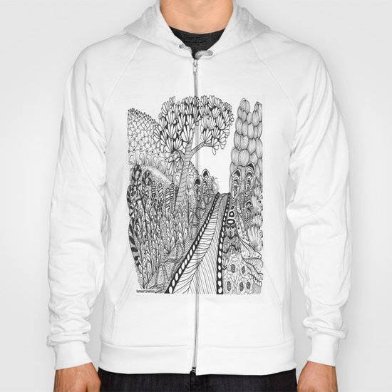 Zentangle Illustration - Road Trip Hoody