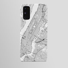 New York City White Map Android Case