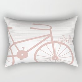Pink Bike by Friztin Rectangular Pillow