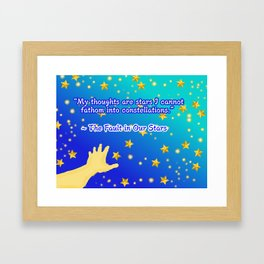 """The Fault in Our Stars """"Constellations"""" Quote Framed Art Print"""