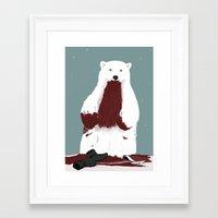 santa Framed Art Prints featuring santa? by Rich Orr