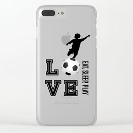 Eat, Sleep, Play  Love Volleyball Clear iPhone Case