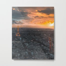 Sunset in the city of love Metal Print