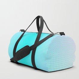 Hexagon grid green, white, black, blue, purple ombre montage Duffle Bag
