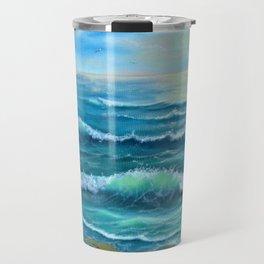 evening surf Travel Mug