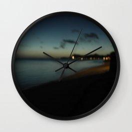 bora bora blue Wall Clock