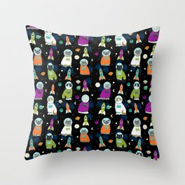 Space Cats - cats in space cute cats cat art cat print Throw Pillow