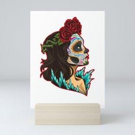 Sugar Skull - Santa Muerte - La Calavera Catrina Mini Art Print