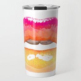 Labios arco iris Travel Mug