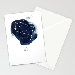 Zodiac Star Constellation - Gemini Stationery Cards