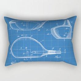 Golf Driver Patent - Golf Art - Blueprint Rectangular Pillow