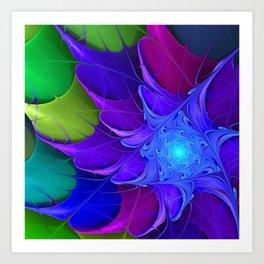 Artistic fractal abstract colour wheel Art Print