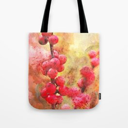 Good cheer with winter berries Tote Bag