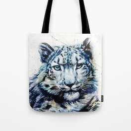 Snow leopard wild and free Tote Bag