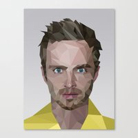 jesse pinkman Canvas Prints featuring Jesse Pinkman by Guillermo Carvajal