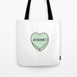 Internet heart Tote Bag