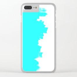Shiny Turquoise balance Clear iPhone Case