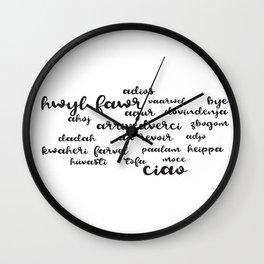 Bye Around The World Wall Clock