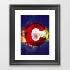 Colorado Flag/Galaxy Print Framed Art Print
