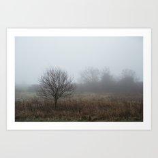 Foggy Winter Day II Art Print