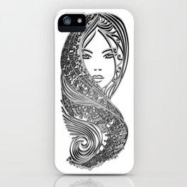 zentangle portrait 2 iPhone Case