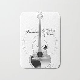 The acoustic guitar - Music, The Frontier of Dreams. Bath Mat