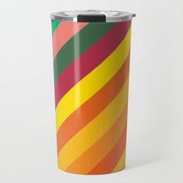 Retro Rainbow Lines Travel Mug