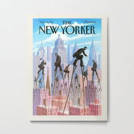 """Cover of """" The new Yorker"""" magazine. Sept. 12 1994. Metal Print"""