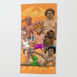 Every Body is a Beach Body: Dad Bods Edition Beach Towel