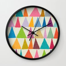 Analogous Shapes In Bloom. Wall Clock