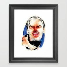 Jack Nicholson Framed Art Print
