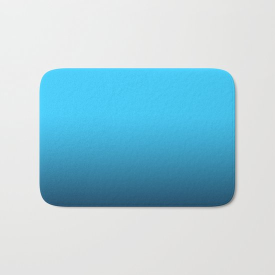Simply fresh teal blue color gradient - Mix and Match with Simplicity of Life Bath Mat