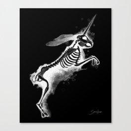 Unicorn Bunny - inverted Canvas Print
