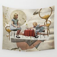 tea Wall Tapestries featuring tea time by Heather Landis