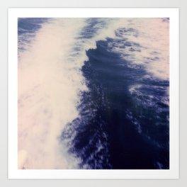 Blue Sea at Ithaka island Greece Art Print